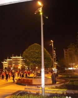 Aluminium alloy courtyard light pole